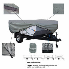Deluxe Waterproof Pop Up Folding Camper Tent Trailer Storage Cover fits 14'-16'L