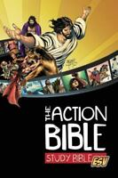 The Action Bible Study Bible ESV (Hardcover): By Cook, David C