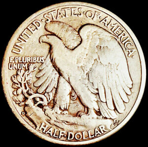 UNITED STATES OF AMERICA - DENVER MINT - 1/2 DOLLAR 1944 - SILVER COIN       #H3
