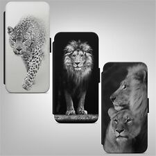 Leopard Lion Animal WALLET FLIP PHONE CASE COVER for IPHONE SAMSUNG HUAWEI
