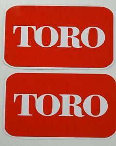 TORO LAWN MOWER VINYL STICKER X2   150mm X 100mm Honda Husqvarna Victa