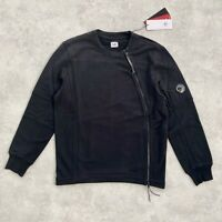 CP COMPANY Black Sweatshirt NWT w/ goggle & zip RRP 198€ 19FW CMSS007A-005086W