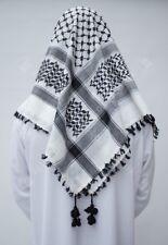 Shemagh, Keffiyeh, Traditional Arab Scarf, Islamic Headscarf, Black & White