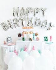 Feliz Cumpleaños Globos De Papel De Aluminio Brillante astilla Letras Del Alfabeto Fiesta Decoración Suministros