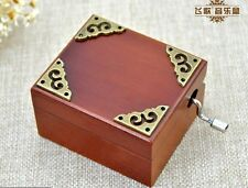 Vintage Square Hand Crank Music Box  ♫  LOVE ME TENDER  ♫