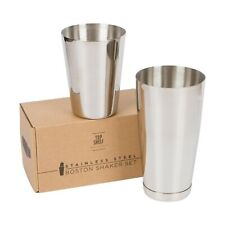 Premium Cocktail Shaker Set: Two-Piece Pro Boston Shaker Set. Unweighted 18oz...