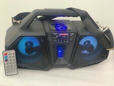 """Bluetooth Rechargeable Speaker Powerful Double 4"""" FM USB TF Aux Led Light Remote"""