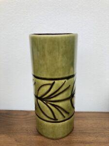 Carstens Tonnieshof West German Austria Pottery Vase 683-18 Green 18cm Tall