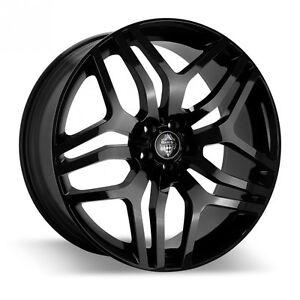 RR AUTOBIO 22X9.5 5/108 45P GLOSS BLACK 45P EVOQUE FITMENT WHEELS