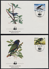 Dominica 827-30 on FDC's - Birds, Parrot, Hummingbird