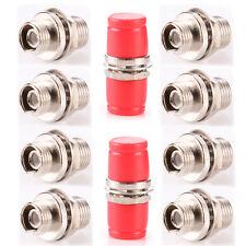 Lot of 10 FC-FC Fiber Optic Adapter Connector Metal Single & Multi Mode Simplex