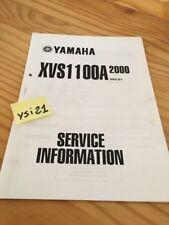 Yamaha XVS1100A 2000 XVS1100 A  service information technique technical data