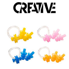 Silicone Ear Plugs & Nose Clip Set with Case Swimming Water Pool Sea Diving Set