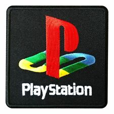 Play Station PS2 Retro Logo Embroidered Iron on Sew on Patch