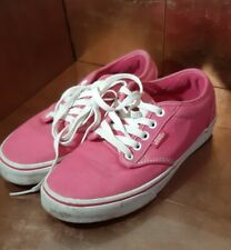 WOMENS VANS TRAINERS SIZE UK 4.5          (US Size 6.5) Bright Pink.