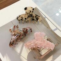 Acrylic Hairpins Hair Clip Crab Claws Accetate Print Large Women Girls Headdress