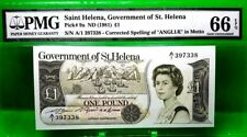 MONEY SAINT HELENA 1 POUND 1981 GOVERNMENT OF ST HELENA GEM UNC PICK #9a