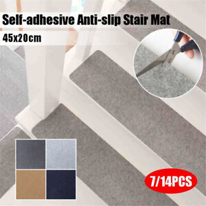 Sticky Bottom Self-adhesive Floor Rugs Staircase Pad Stair Mat Step Carpet