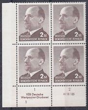 Briefmarken DDR MiNr 1482 b Druckvermerk DV  DWD 1 Ulbricht **