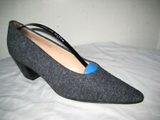 WALTER STEIGER Tweed  Pumps Shoes Women's Size 8 B Hand Made In ITALY.
