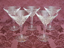 """Set of Five (5) Waterford Lismore 6â…›"""" Martini Glasses - Excellent!"""