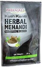 PATANJALI KESH KANTI NATURAL HERBAL BLACK HAIR COLOR MEHANDI 20G PACK-6