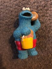 Vintage Applause Sesame Street Muppets Figure - Cookie Monster w/ pail of shells