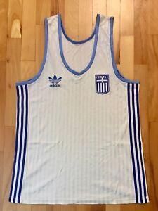Rare Hellas Greece Adidas Vintage Basketball Jersey Size XL
