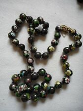 Vintage Chinese import high quality cloisonne enamel necklace,sterling clasp