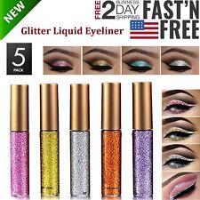 5 Pack Glitter Liquid Eyeliner Long Lasting Waterproof Sparkling Eye Shadow Pen