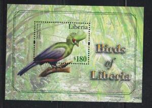LIBERIA 2011 BIRD STAMPS TURACO BIRDS OF LIBERIA  SS  MNH - BIRDL418