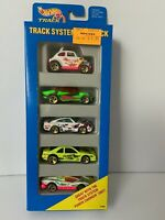 Vtg 1994 Hot Wheels TRACK SYSTEM Collectible Gift Pack 5 Cars BAJA BUG Gold Rims