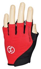 Zero Friction Men's Half Finger Cycling Gloves, Pair Red One Size