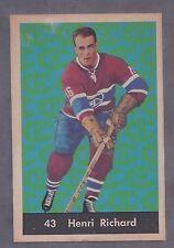 1961 Parkhurst #43 Henri Richard Montreal Canadiens EX Plus
