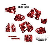 1992 1993 1994 CR 125 250 Graphics CR125R CR250R deco kit #5555 RED Boneyard