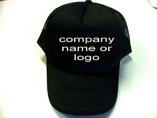 50 Units x Trucker Caps with custom 1 color print, many colors to choose from