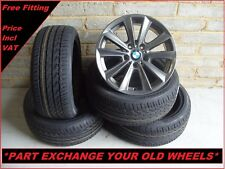 "2239 Genuine 17"" BMW 236 5 Series F10 6 Series F12 Alloy Wheels And New Tyres"