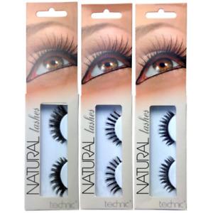 Technic Natural Lashes False Fake Eye Eyelashes with Adhesive Glue
