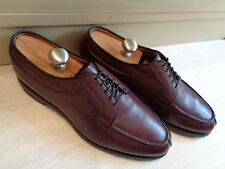 Allen Edmonds derby UK 10 44 US11 Stockbridge burgundy leather split toe lace up
