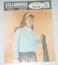 Knitting Patterns - Villawool 26 -Girls Cardigan