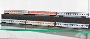 Fleischmann Piccolo 6x Schnellzug Wagen Art. 8184 + 8183 + 8118 Spur N IC EC