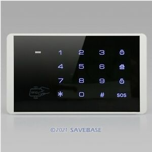 433MHz Wireless Password Keypad With Blue Backlight For Our Alarm System