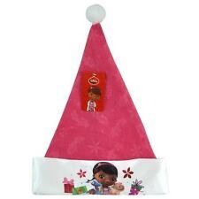 "New Doc Mc Stuffins Kids 16"" Christmas Felt Hat with Satin Cuff & Hangtag Gift"