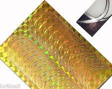Nail Art Schablone Aufkleber Tattoo Streifen gebogen in der Farbe Gold