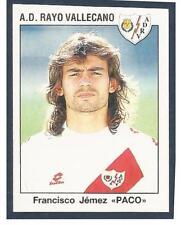 """PANINI FUTBOL 93-94 SPANISH -#230-A.D.RAYO VALLECANO-FRANCISCO JEMEZ """"PACO"""""""