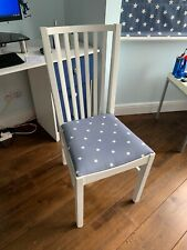 White solid wood chair with STAR upholstery