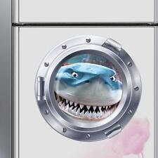 Shark Wall Sticker 3D Decals Wallpaper Window Refrigerator Mural Art For Kids