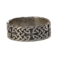 Celtic Iron Cross Knotwork Ring 925 silver Schwartz Biker Gothic feeanddave