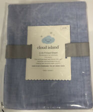 Cloud Island Fitted Crib Sheet Light Blue Denim Baby Blue NEW