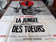 Affiche de cinéma la jungle des tueurs 1967